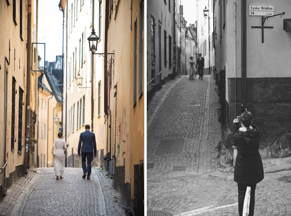 wedding photographer old town stockholm