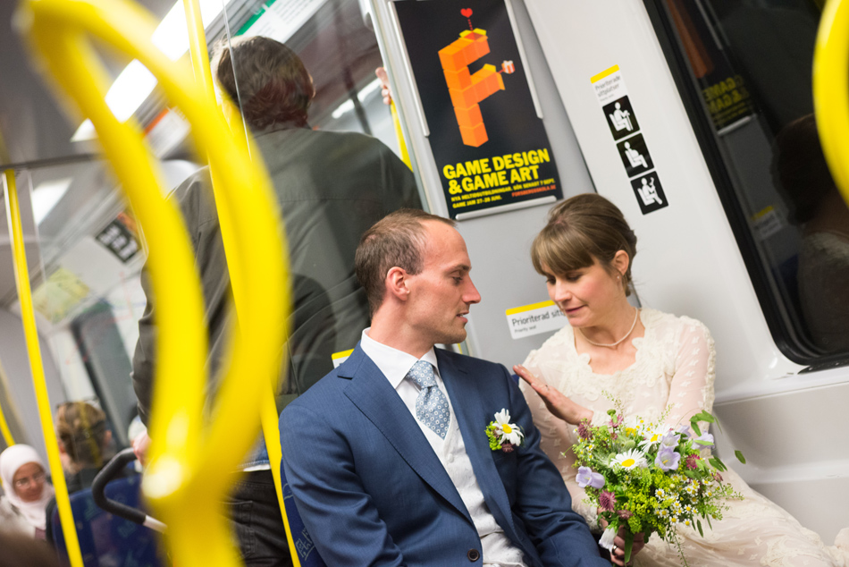 bröllop tunnelbana stockholm