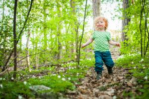 barnfotografering vitsippor