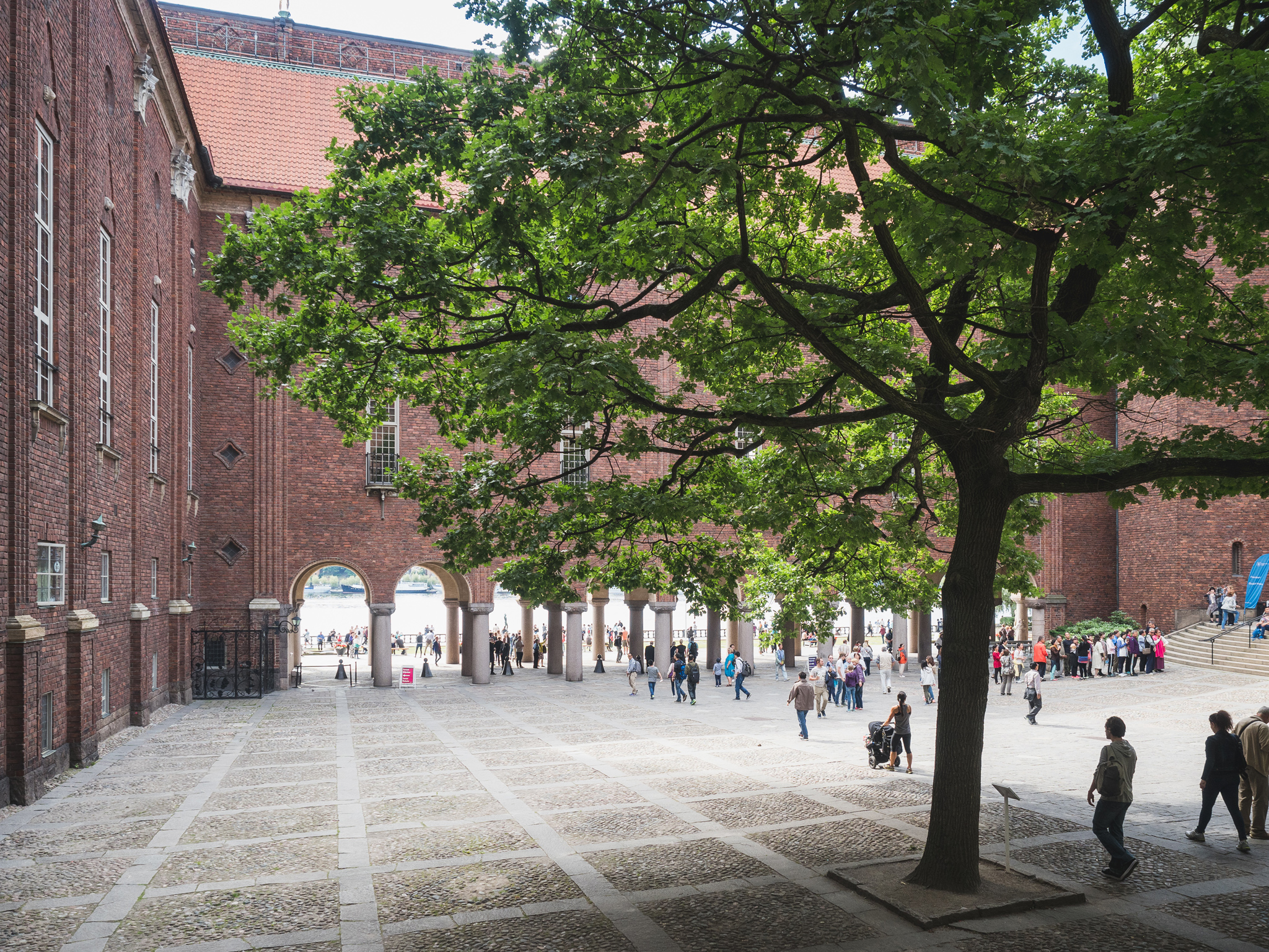 stockholm city hall courtyard