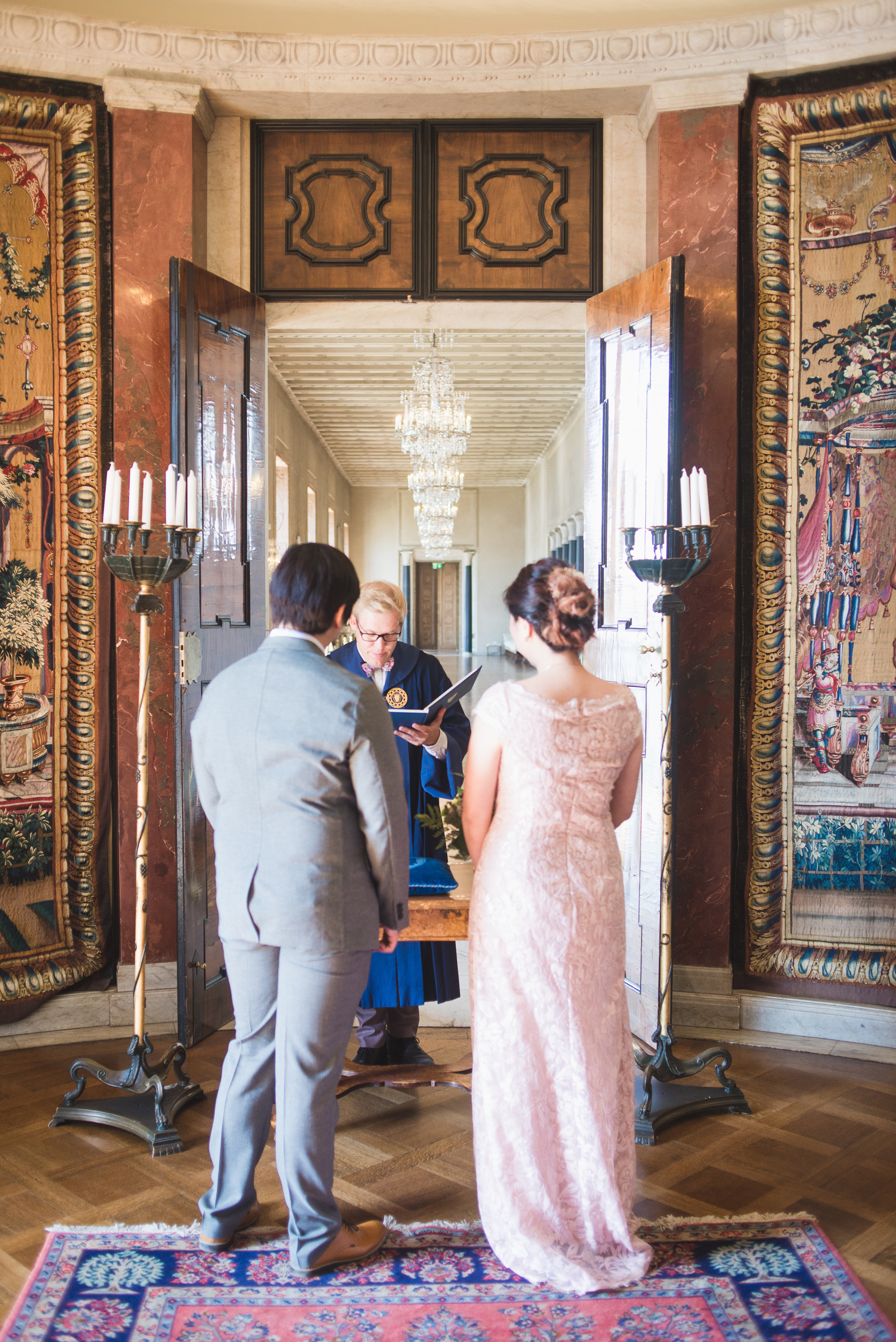 wedding ceremony at stockholm city hall