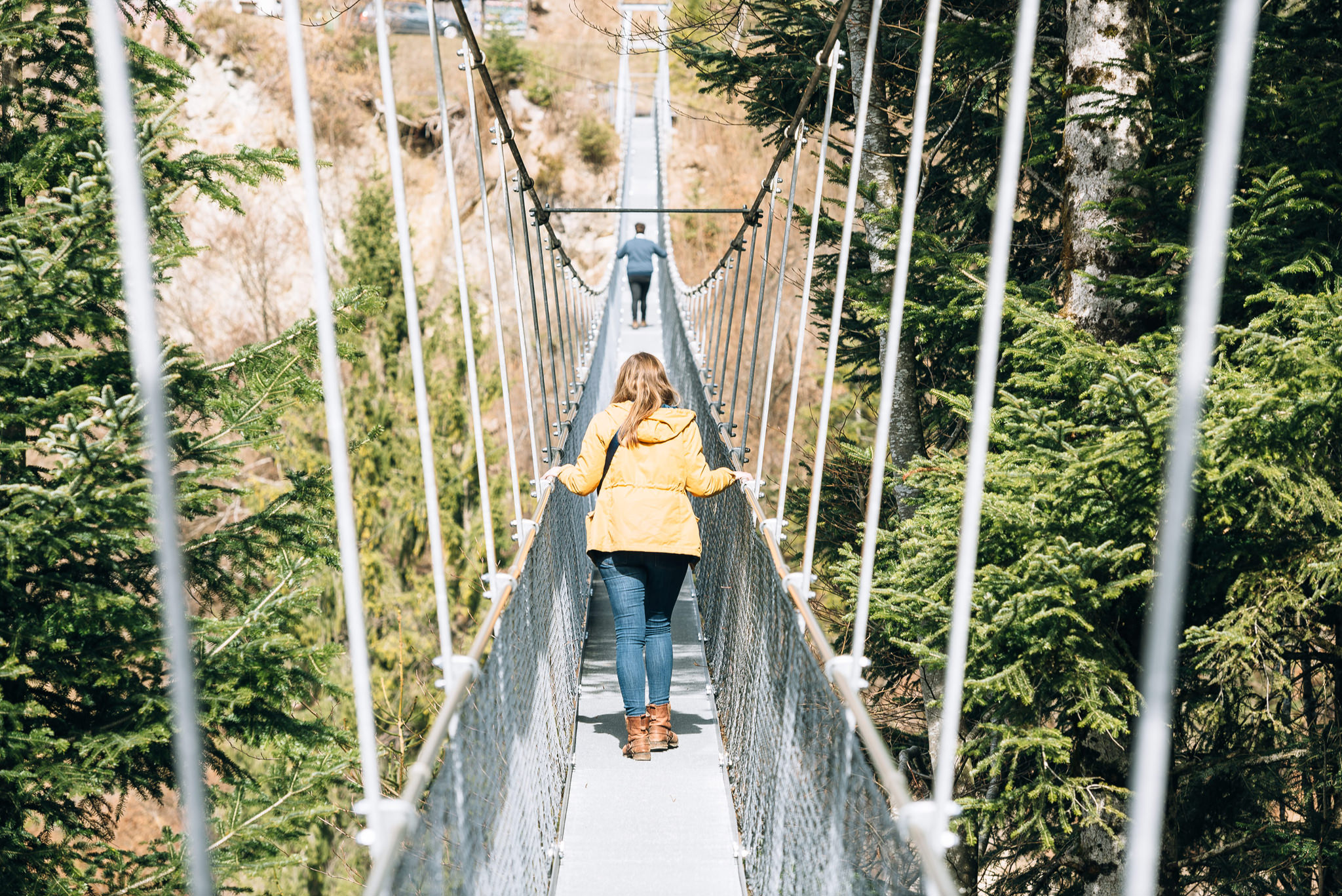 suspension bridge in adelboden