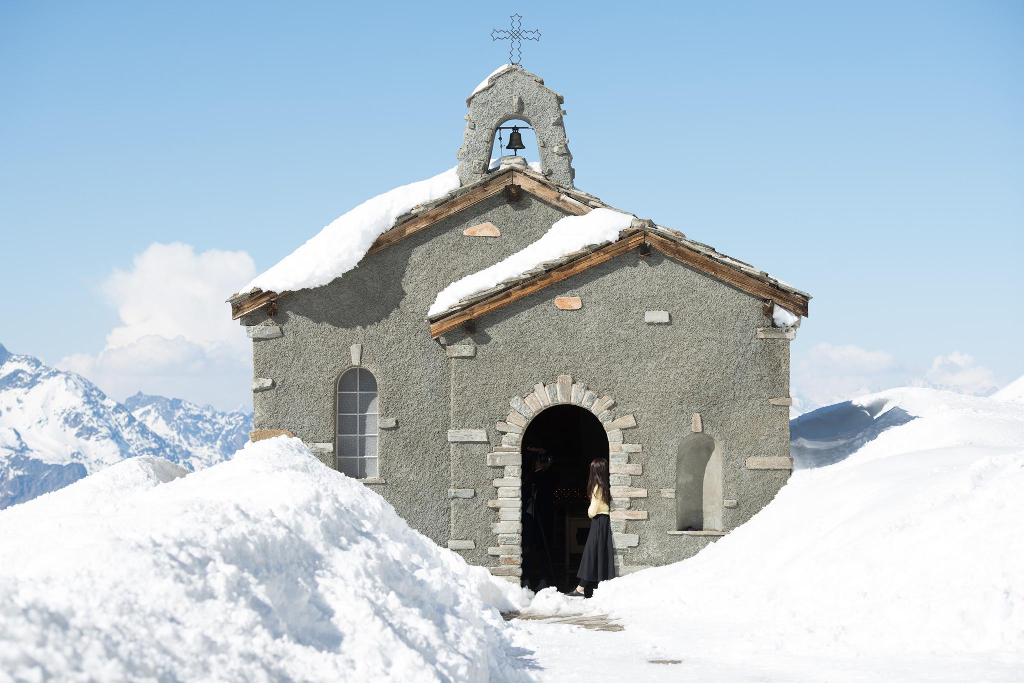 Bernhard von Aosta chapel in zermatt gornergrat