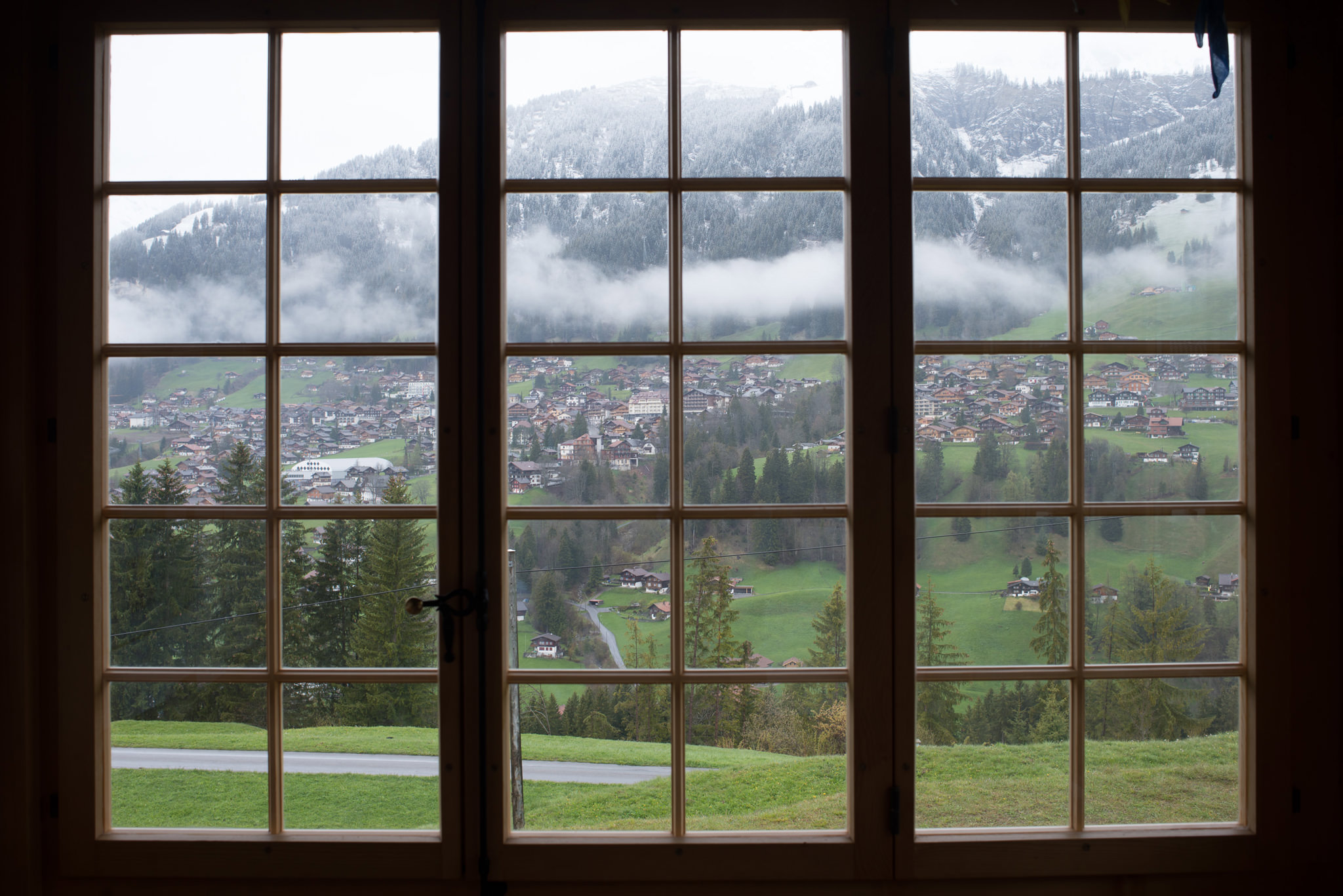 the view from our chalet world centre in adelboden switzerland
