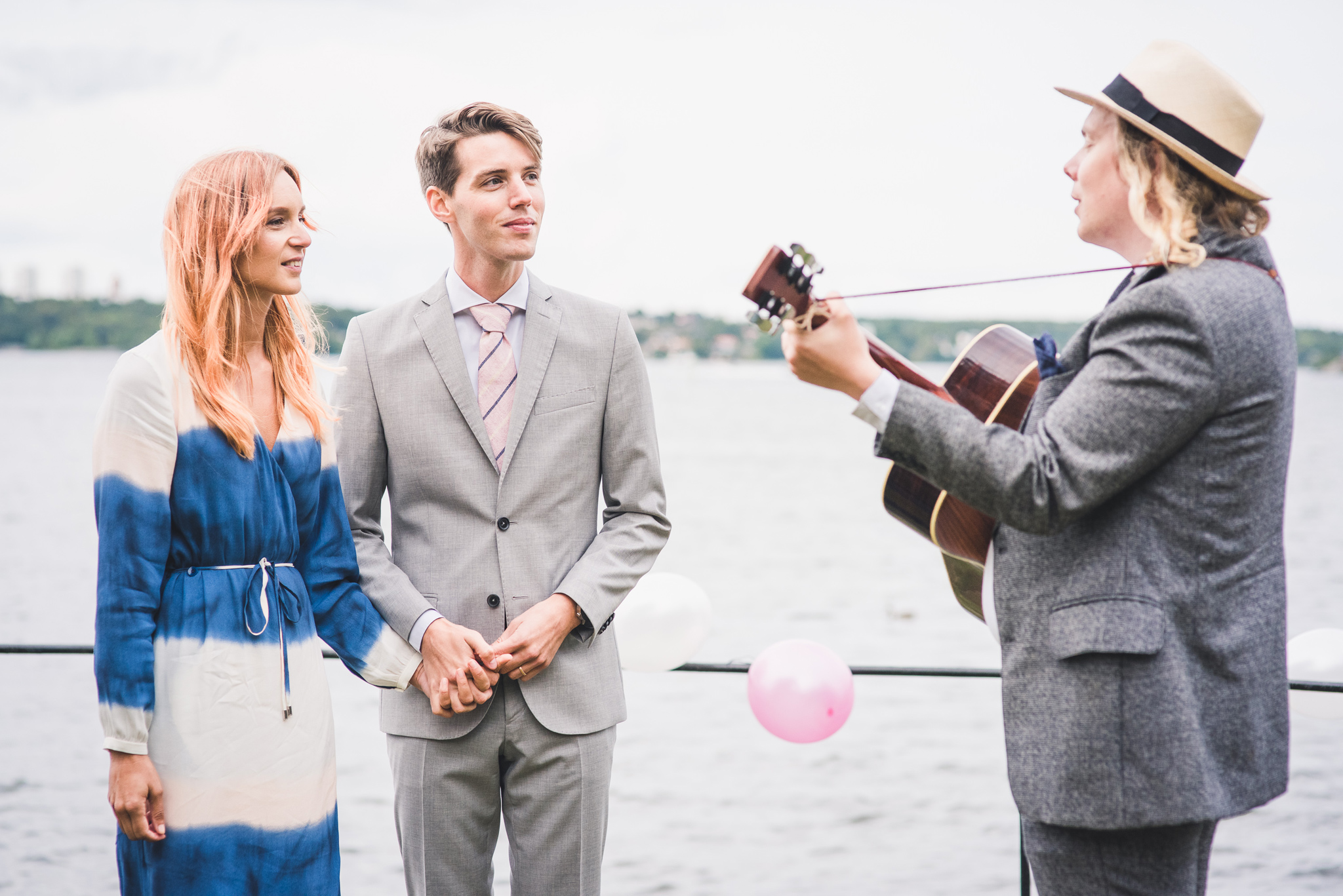 music at a small elopement wedding in stockholm