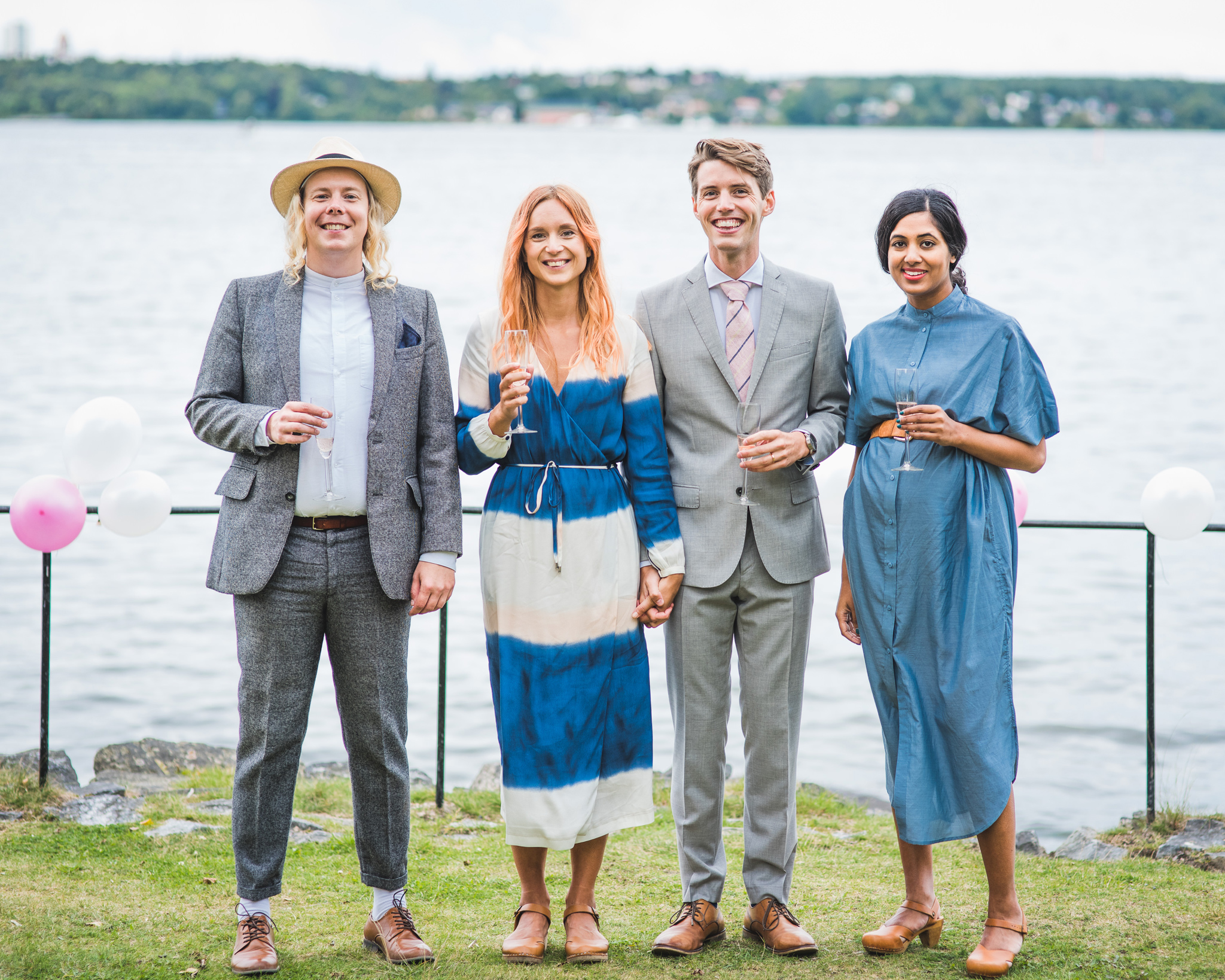 an elopement wedding group photo